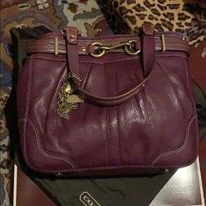 Coach bag - berry color. Lightly used